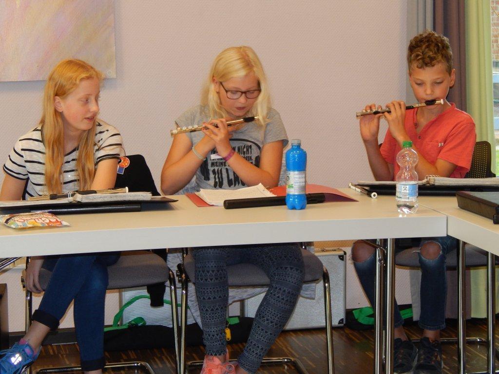 Lina, Jule und Vincent