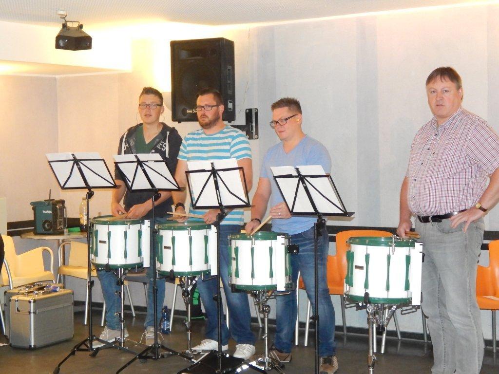 v.l. Felix, Patrick, Tobias und Franz-Josef