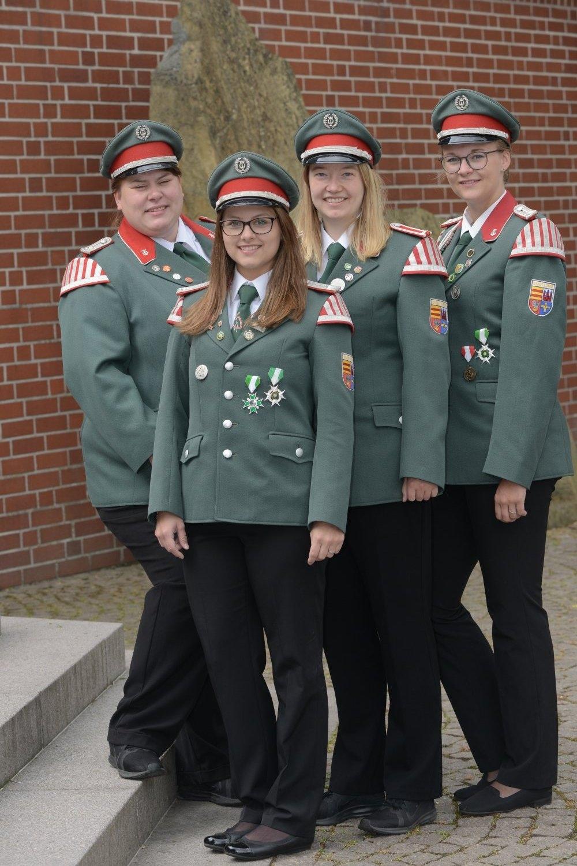 v.l. Annemarie Heckmann, Hannah Kruse, Annika Bütegerds, Jana Langnau