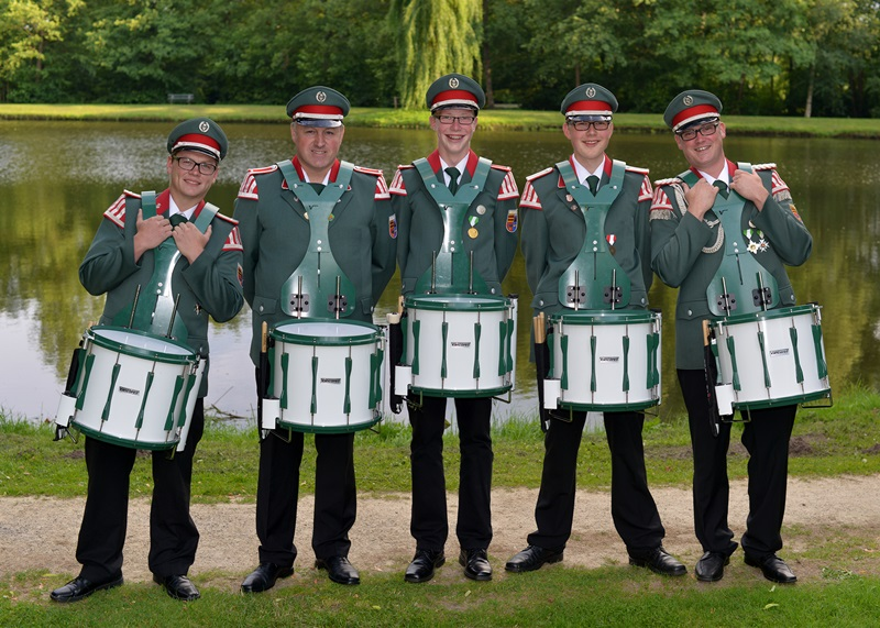 v. l.: Tobias Runnebohm, Franz-Josef Sieve, Steffen Börgerding, Felix Hoffmann, Patrik Niemann